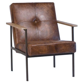 Jaxon Leather Arm Chair For Sale