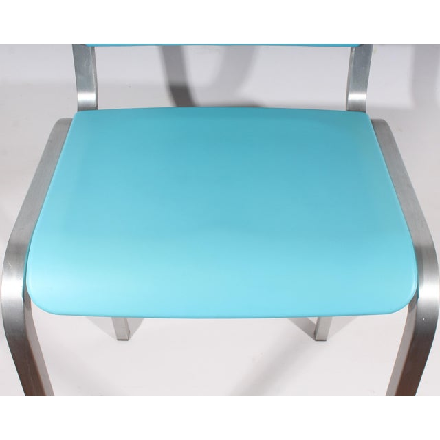Emeco Late 20th Century Vintage Ettore Sottsass for Emeco Nine-0 Bar Stool For Sale - Image 4 of 11