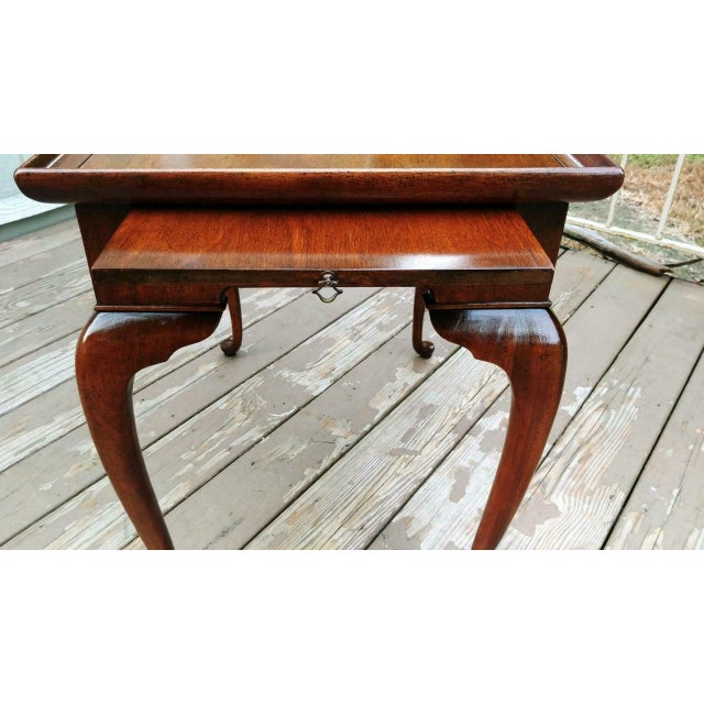 Vintage Traditional Brandt Mahogany Tea Table For Sale - Image 10 of 13