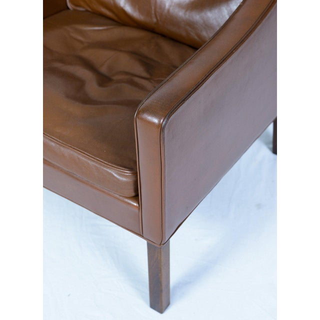 Brown Børge Mogensen Model #2207 Leather Lounge Chair For Sale - Image 8 of 10