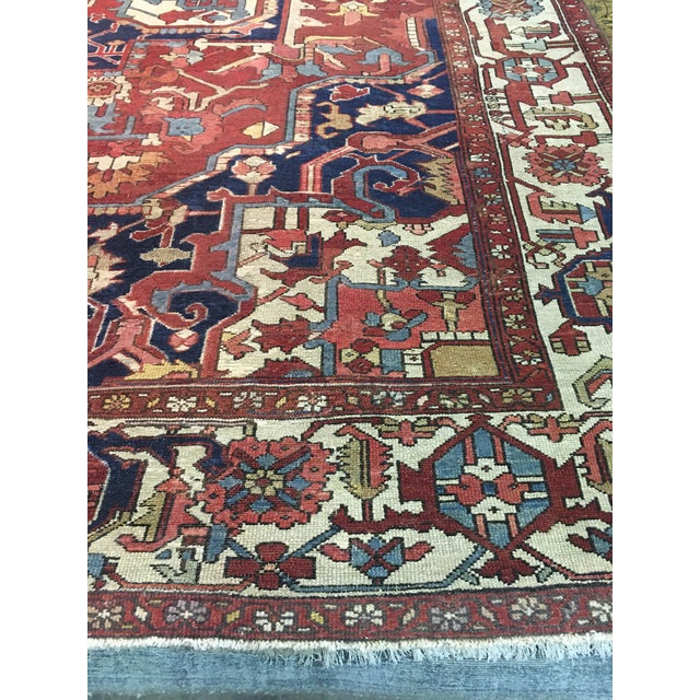 "Contemporary Pasargad NY Antique Persian Serapi Rug - 9'8"" x 13'4"" For Sale - Image 3 of 8"