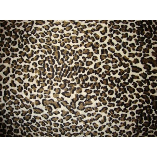 Leopard Print Upholstered Bench - Image 3 of 6
