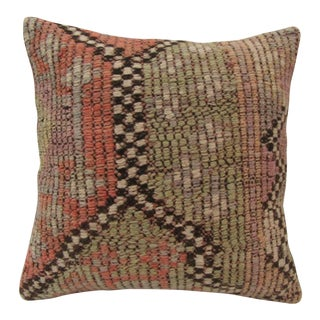 Vintage Handmade Turkish Kilim Pillow Cover For Sale