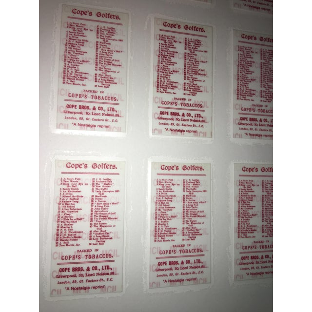 White Cope's Golfers Repro English Cigarette Cards For Sale - Image 8 of 8
