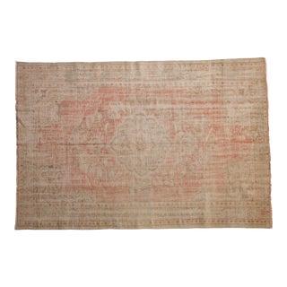"Vintage Distressed Oushak Carpet - 5'8"" X 8'4"" For Sale"