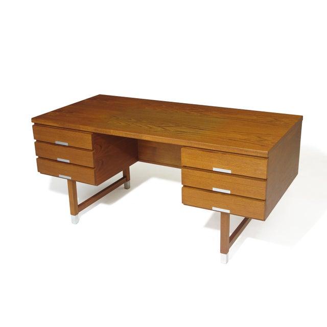 Danish Modern Kai Kristiansen Teak Desk For Sale - Image 3 of 5