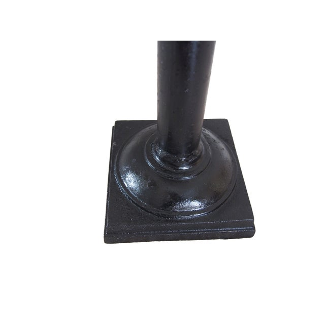 Black Modern Wrought Iron Candle Holder For Sale - Image 8 of 9
