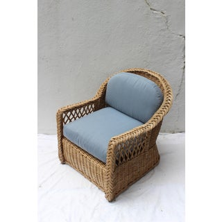 Vintage Mid Century Wicker Armchair Preview