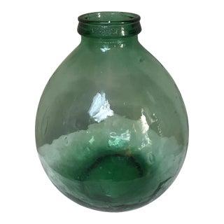 1960s Vintage Viresa Green Wine Demijohn Jug For Sale