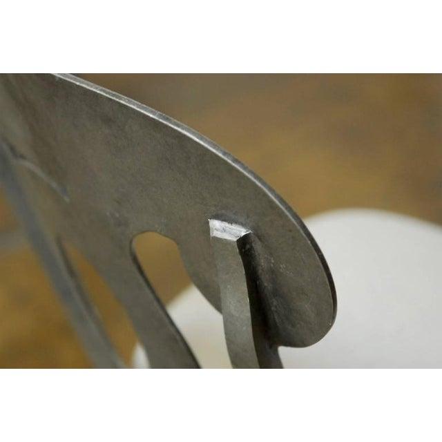 Modern Biedermeier Style Metal Barstools - Set of 3 - Image 8 of 10