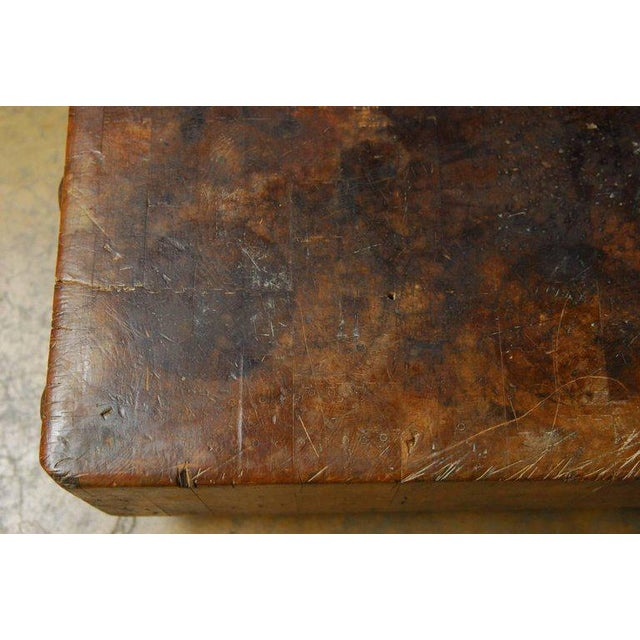 Michigan Maple Wood-Welded Table Top Butcher Block For Sale - Image 5 of 10