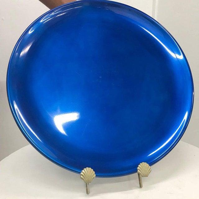 Blue Set of Italian Decorative Plates by Afra E Tobia Scarpa San Lorenzo Design For Sale - Image 8 of 10