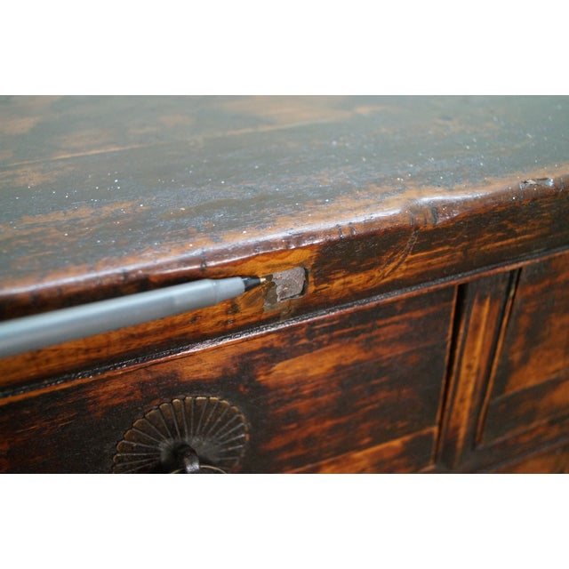 Rustic Chinese Console with Drawers - Image 7 of 10