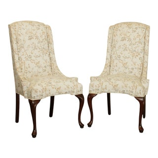 Quality Queen Anne Style Pair Host Chairs For Sale