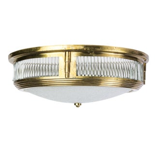 Attributed to Perzel 1940's Art Deco Flush Mount For Sale