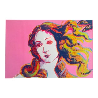 "Andy Warhol Foundation Offset Lithograph Pop Art Poster "" Birth of Venus "" 1984 For Sale"