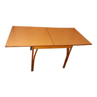 19th Century Mid-Century Modern Heywood and Wakefield Drop Leaf Bamboo Dining Table For Sale