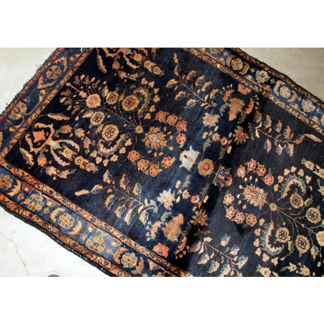 1920s 1920s, Handmade Antique Persian Sarouk Rug 3.3' X 5.4' For Sale - Image 5 of 9