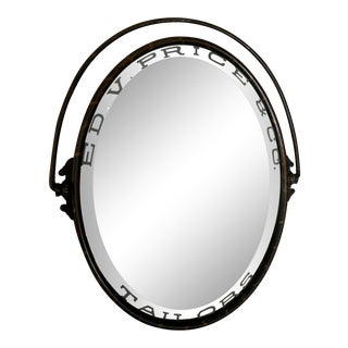 1900 Antique Ed. V. Price & Co. Merchant Tailor, Chicago, Il, Oval Mirror For Sale