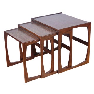 Sculptural Cerused Nesting Tables