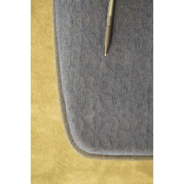 Blue Monica Forster for Bernhardt Chrome Base Swivel Vika Lounge Chair For Sale - Image 8 of 13