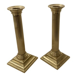 Baldwin Brass Candlesticks - a Pair For Sale