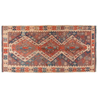 Antique Mid-19th Century Turkish Kilim For Sale