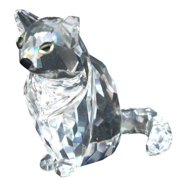 Swarovski Crystal Cat Figure - Image 1 of 4