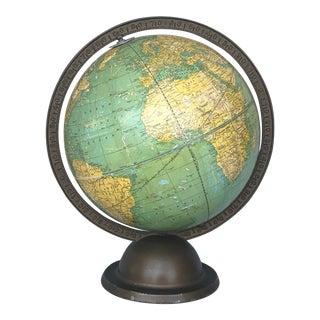 Vintage Art Deco World Globe For Sale