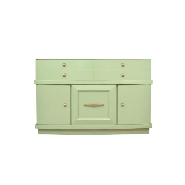 Green 1950's Mid Century Modern Basic-Witz Green China Cabinet For Sale - Image 8 of 8