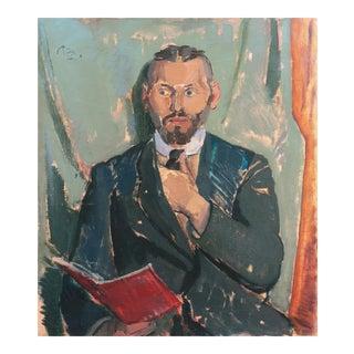 'Man With a Red Book' by Peter Rostrup Boyesen, Paris, Copenhagen Art Academy, Benezit, Thieme-Becker For Sale