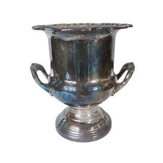 Vintage Ornate Silver Urn Ice Bucket For Sale