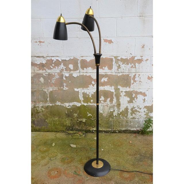 Gold Gerald Thurston Style Mid-Century Modern Gooseneck Floor Lamp For Sale - Image 7 of 8