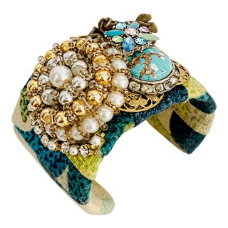 Leanne Weissler Floral Cuff Bracelet For Sale