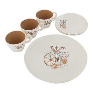 "Taylor, Smith & Taylor Co. ""Weathervane"" Dish Set - Set of 4"