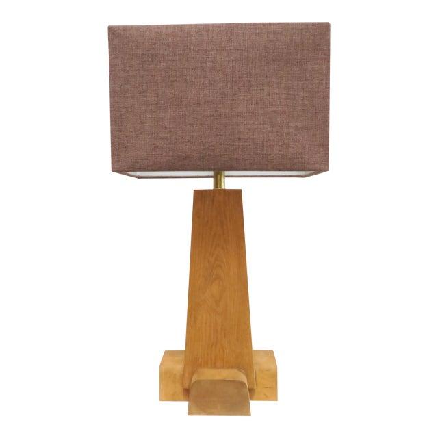 Martin & Brockett Cross Base Pine Table Lamp - Image 1 of 6