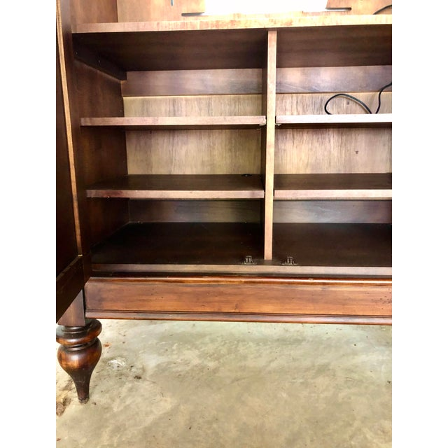 Wood Jim Peed for Romweber Rustic Hardwood Armoire For Sale - Image 7 of 13