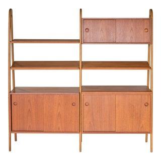 1960s Sveriges Möbelindustriförbund Smi Swedish Freestanding Bookshelf For Sale