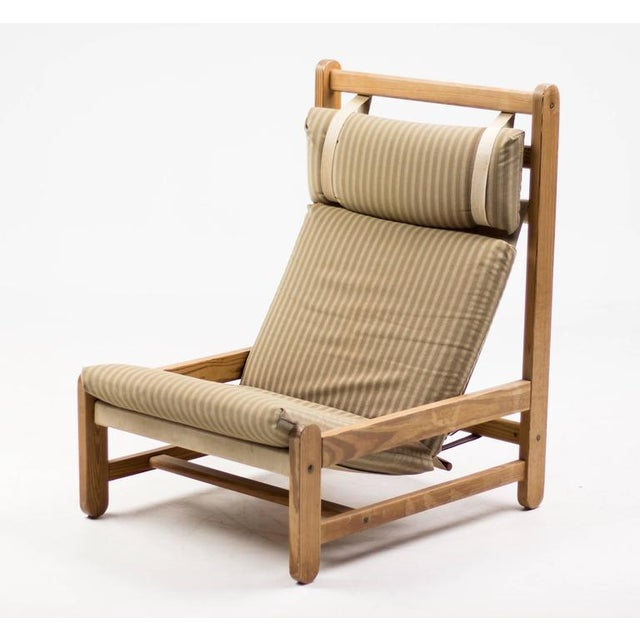 1960s Scandinavian Architectural Lounge Chair For Sale - Image 5 of 8
