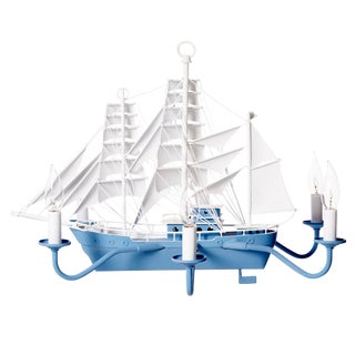 Blue Sailing Ship Chandelier