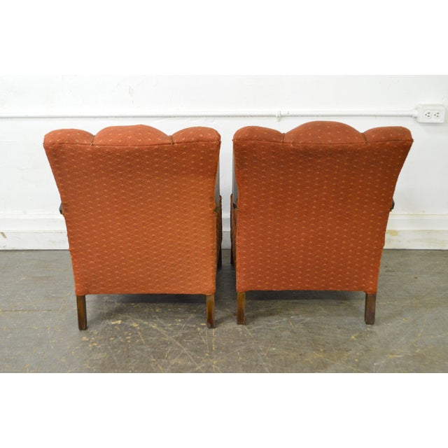 Art Deco Style Pair of Open Arm Lounge Chairs - Image 4 of 10