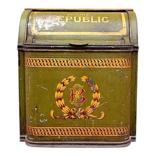 Antique Tin Coffee Container