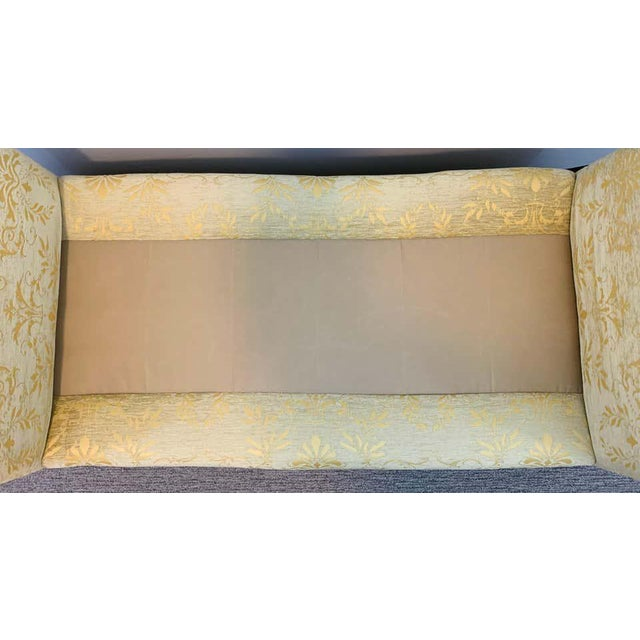 Maison Dominique French Art Deco Style Yellow Gold Bench or Window Seat After Dominique, a Pair For Sale - Image 4 of 13
