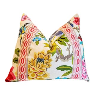 Waverly Candid Moment Floral Pillow For Sale
