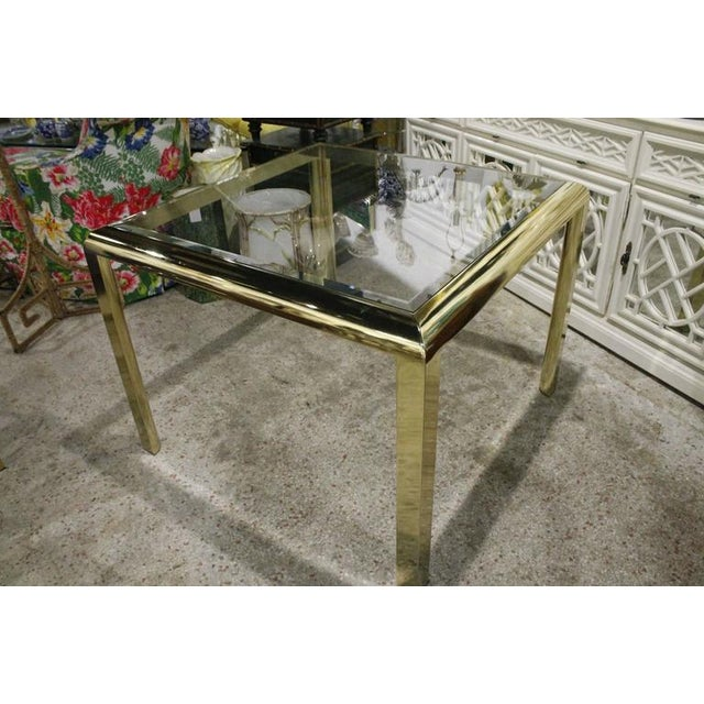 Brass Vintage Brass Dining Table Game Table For Sale - Image 7 of 10