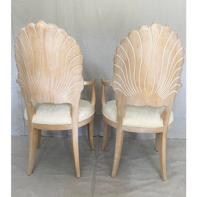 Vintage Carved Back Shell Chairs- Set of 6 For Sale In Tampa - Image 6 of 13