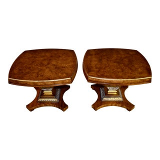 Vintage Weiman Italian Provincial Style Side Tables - a Pair For Sale