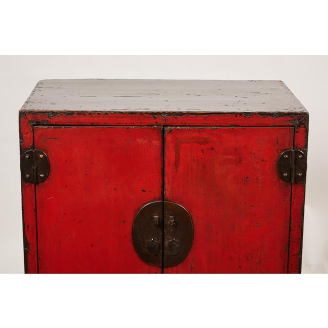 18th Century Chinese Pair of Two Door Cabinets For Sale - Image 4 of 10