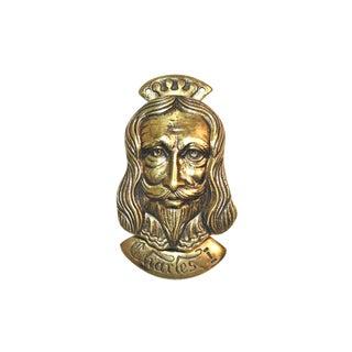 1970s Traditional King Charles I Door Knocker