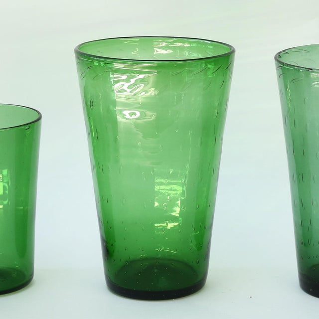 1960s Italian Green Glass Vase by Empoli For Sale - Image 5 of 8